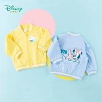 迪士尼Disney童装 女宝宝运动外套米妮卡通印花上衣春季新品儿童纯棉衣服201S1339