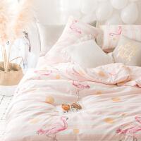 ???床单学生宿舍单人床ins公主风女被罩可爱粉色被套纯棉床上三件套