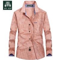Afs Jeep长袖衬衫男战地吉普男衬衫纯棉休闲春季大码长袖衬衫2602