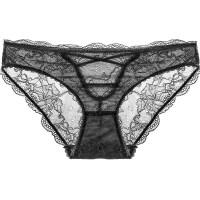 女士内裤交叉绑带透明性感蕾丝裆低腰提臀无痕三角裤