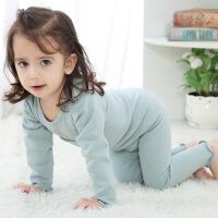 宝宝保暖衣套装加绒加厚冬季儿童内衣高腰护肚裤男女童秋婴儿睡衣