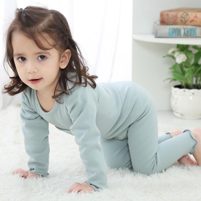 宝宝保暖衣套装加绒加厚冬季儿童内衣高腰护肚裤男女童秋婴儿睡衣 发货周期:一般在付款后2-90天左右发货,具体发货时间请以与客服协商的时间为准