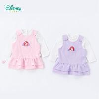 【限时抢:47】迪士尼Disney 女童背心裙套装秋季新款索菲亚纯棉宝宝衣服长袖t恤裙子2件套183T833