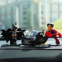复仇者联盟蝙蝠侠公仔汽车摆件超人车内饰品摆件创意汽车内装饰品
