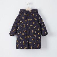 【2件2.5折到手价:165】美特斯邦威旗下moomoo童装男童长款羽绒服新款冬装漫威洋气中大儿童外套