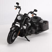 【优选】1:12哈雷摩托车模型 2017款路王特别版 仿真摩托模型玩具 黑色 2017款路王特别版
