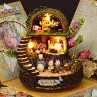 萌味 音乐盒 diy旋转龙猫八音盒天空之城圣诞节创意生日礼物女生闺蜜同学生日礼物 创意礼品