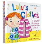 露露的衣服 英文原版绘本 Lulu's Clothes 我爱露露系列 幼儿启蒙生活习惯图画翻翻书 精装触摸操作书机关书