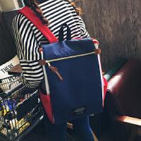 韩版休闲学院风背包双肩书包中学生双肩包女电脑包旅行包