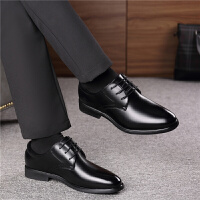 正装男士皮鞋男黑色内增高男鞋商务青年韩版英伦尖头秋季休闲鞋子