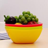【清仓】欧润哲 创意双层果篮三色套装 厨房水果盘客厅塑料创意洗菜盆时尚干果盘大号零食盘