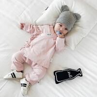 婴儿衣服秋装新生儿和尚服纯棉两件套0-3岁2男女宝宝休闲套装