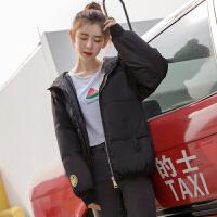 冬装新款反季棉衣女短款学生羽绒韩版宽松加厚小棉袄外套 M (85-100斤)