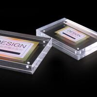 亚克力相框水晶摆台透明567812寸A4玻璃创意欧式简约双面磁铁相架