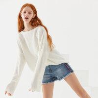 【全场2件2.5折,到手价:137.3】美特斯邦威开衫毛衣女2019冬季新款休闲潮流时尚舒适女士长袖毛衣