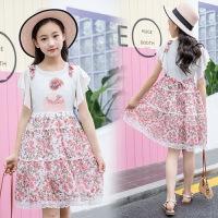 女童裙子夏装大童连衣裙女孩夏装衣服12岁女童雪纺连衣裙