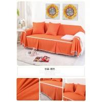 折叠沙发床套罩沙发套全包全盖布简易无扶手双三人多功能色