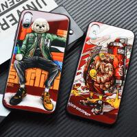 苹果x手机壳iphonex钢化玻璃镜面xr保护套xs max个性漫画iphone潮6s男8plus欧 6/6s 恶犬