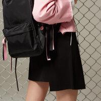 【全场2件2.5折,到手价:37.5】美特斯邦威女潮流反光条细节针织半身裙秋新款不规则短裙