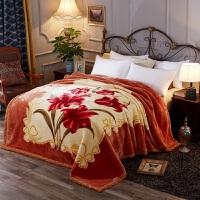 婚庆大红7斤珊瑚绒毯双层加厚拉舍尔毛毯被子冬季保暖毛毯