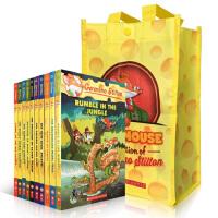 英文原版 Geronimo Stilton 老鼠记者 41-50册儿童章节小说7-10岁彩色插图漫画青少年冒险探险丛书儿