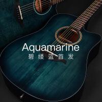 ?民谣木吉他41寸单板吉它40寸面单初学者学生女男电箱