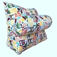 床头三角靠垫三角沙发靠垫床上办公室靠枕 靠背小抱枕含芯卡通座椅子