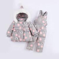 新款儿童羽绒服套装男女宝宝中小童两件套1-3岁婴幼冬装外套