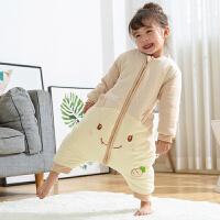 新生宝宝婴儿分腿睡袋儿童纯棉防踢被春秋冬