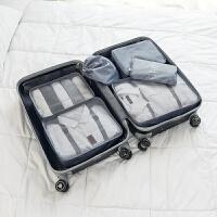 旅行收纳袋套装6件套行李箱衣服整理包旅游衣服鞋子内衣收纳包