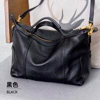 女士包包新款时尚手提包女大包大容量软皮单肩斜挎 黑色