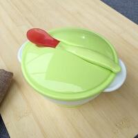 宝宝碗勺套装新生儿学吃饭训练餐具感温防摔婴儿吸盘碗儿童辅食碗A
