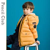 【3件价:118.8元】铅笔俱乐部童装2019冬季新款男童棉衣中大童加绒外套儿童保暖棉衣