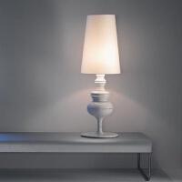 现代简约北欧创意设计灯具时尚客厅卧室书房卫士台灯白色 按钮开关