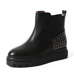 Teenmix/天美意冬季专柜同款牛皮女靴6R440DD6