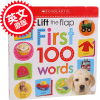 现货 Scholastic Early Learners Lift the Flap: First 100 Words