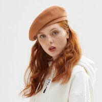 【到手�r:39,可�B券】美特斯邦威�雷帽女2020新款春季可�鄢�r尚�赓|基本平�女士帽子