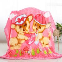 新生婴儿毛毯双层加厚儿童毯宝宝保暖绒毯子秋冬季抱被小孩午睡毯