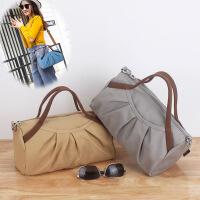 帆布女包单肩手提斜挎包 多功能小布包户外休闲旅行清新布艺包包