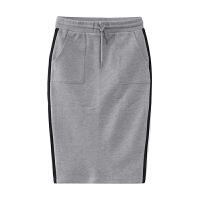 【全场2件2.5折,到手价:37.5】美特斯邦威针织半裙女士冬装拼接直身针织裙258341