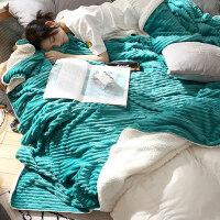 冬季珊瑚绒毯子加厚保暖法兰绒毛毯女学生单人宿舍男冬用午睡盖毯 200cmx230cm(A面法兰绒 B面羊羔绒)