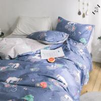公主风四件套简约双人床单被套裸睡床上用品床笠三件套