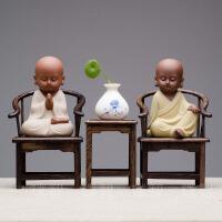 新中式禅意摆件小沙弥和尚电视酒柜桌面装饰品家居室内客厅摆设