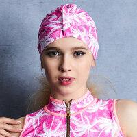 竞技比赛训练护耳游泳装备 印花成人专业运动泳帽女士长发泡温泉帽子