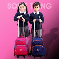 六轮拉杆书包可拆卸爬楼梯儿童小学生背包男女孩1-3-6年级12周岁