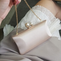 手拿包晚宴包小包珍珠包宴会晚礼服包斜跨包链条包时尚小方包