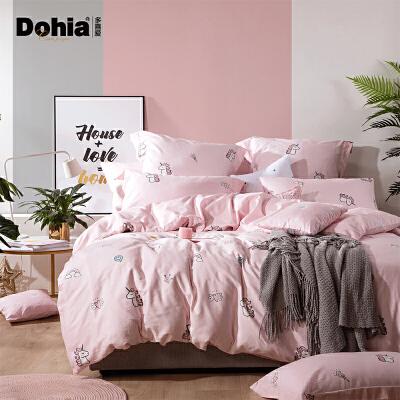 Dohia 多喜爱 樱粉星梦 网红ins风全棉套件 1.2m 229元包邮