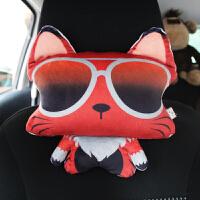 可爱汽车头枕卡通猫咪枕毛绒动物靠枕车内用座椅饰品四季SN7869