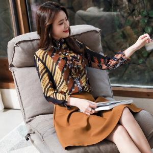 风轩衣度 套装/套裙舒适修身纯色气质韩版简约2018年春季新款 G03