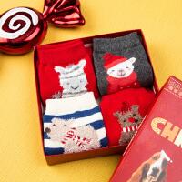 【5折价:59.5元】暇步士童装女童袜子时尚卡通圣诞袜子儿童袜子
